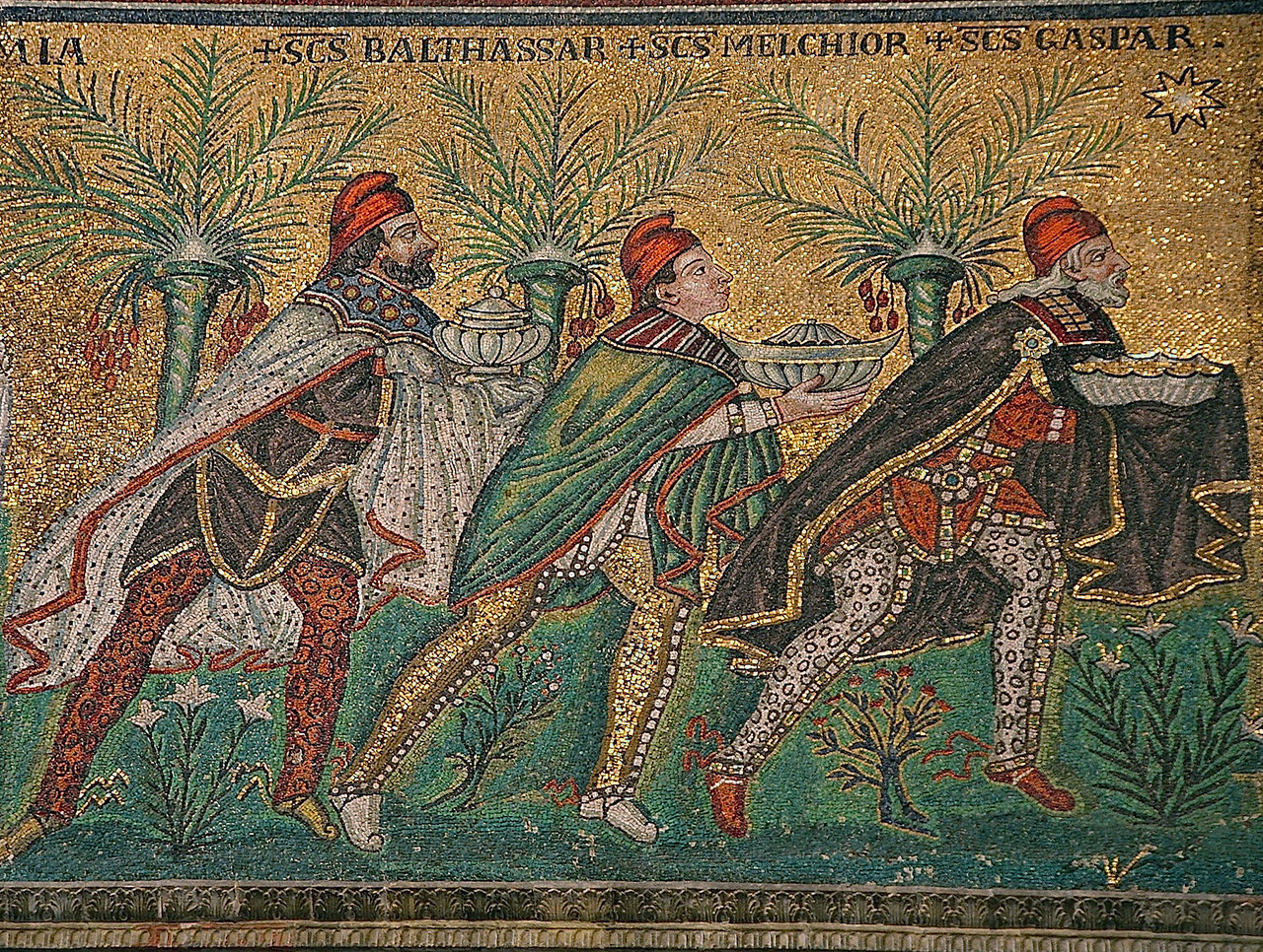mosaic of the Three Wise Men
