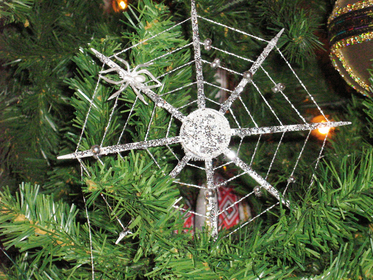 spiderweb tree ornament