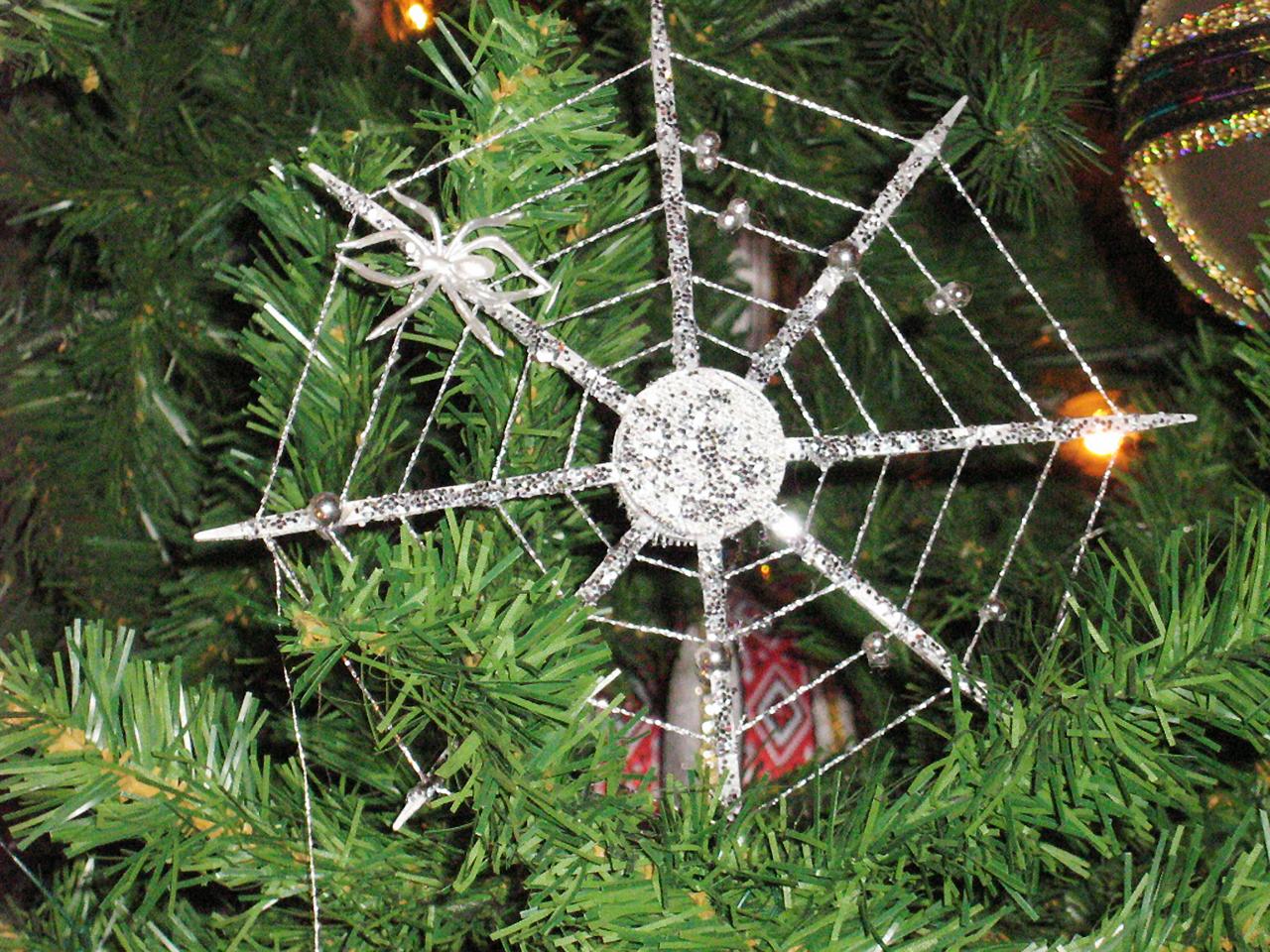spiderweb tree ornament
