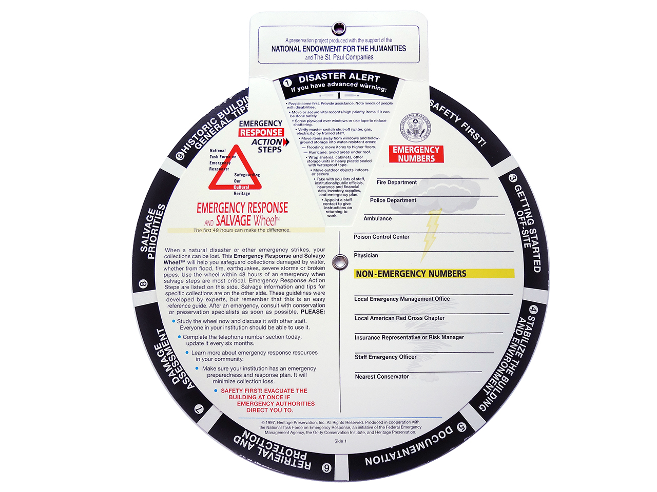 information wheel of disaster responses