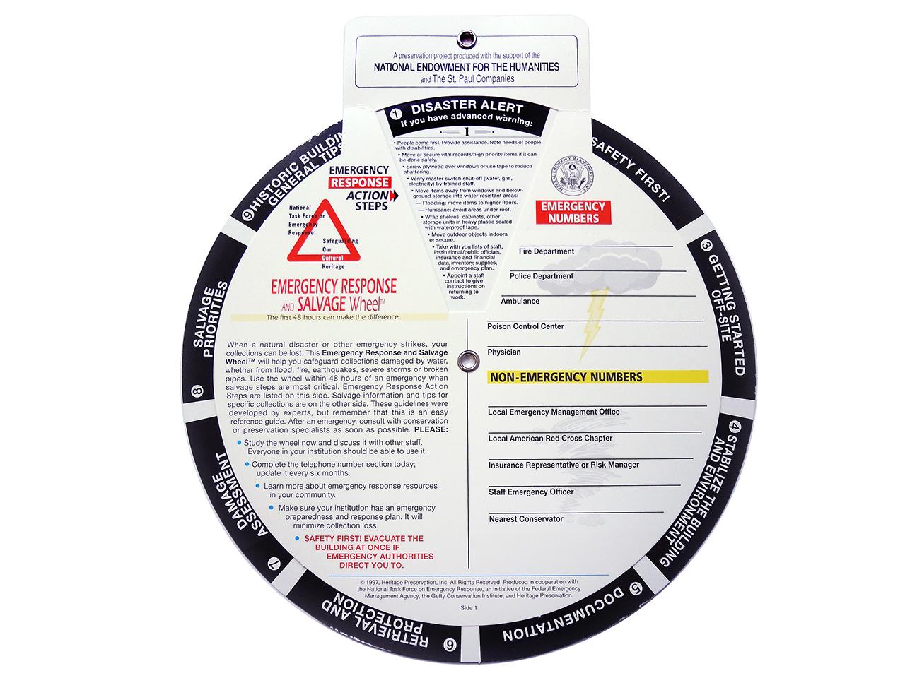 information wheel of disaster responses