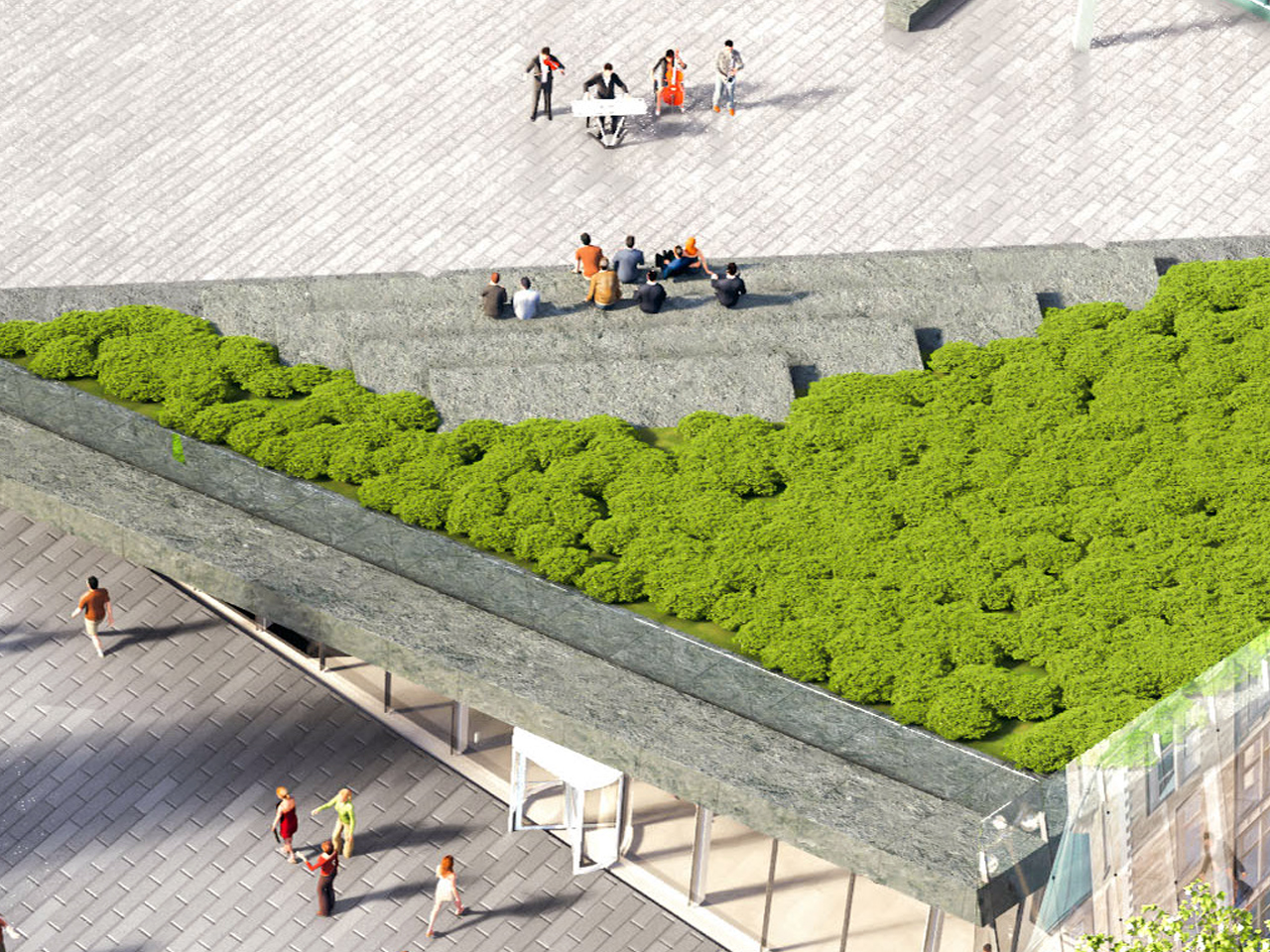 illustration of the roof of the Bank of Canada Museum entrance