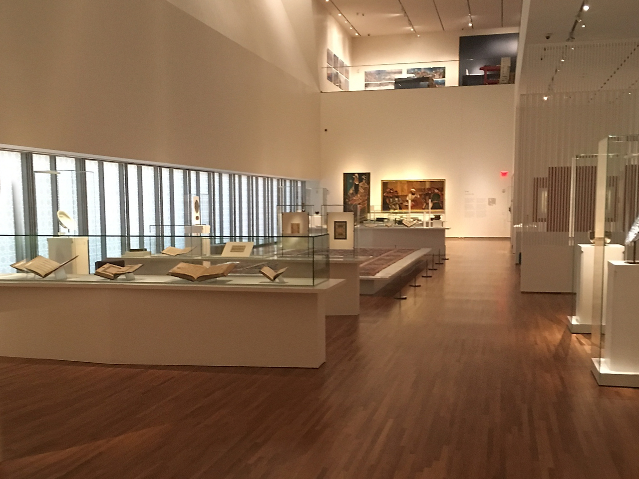 museum exhibition of ancient art objects