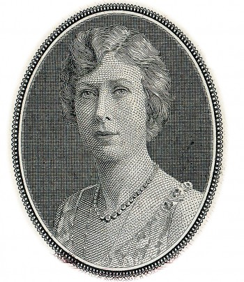 a bank note engraving of Princess Mary