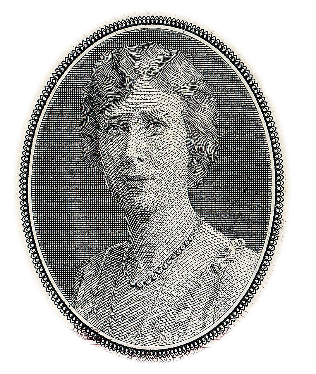 a bank note engraving of Princess Mary