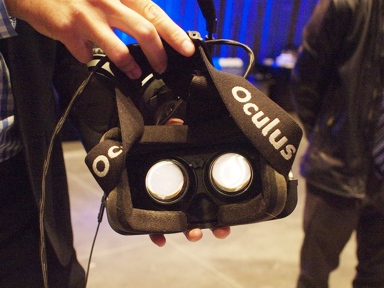 inside of VR goggles