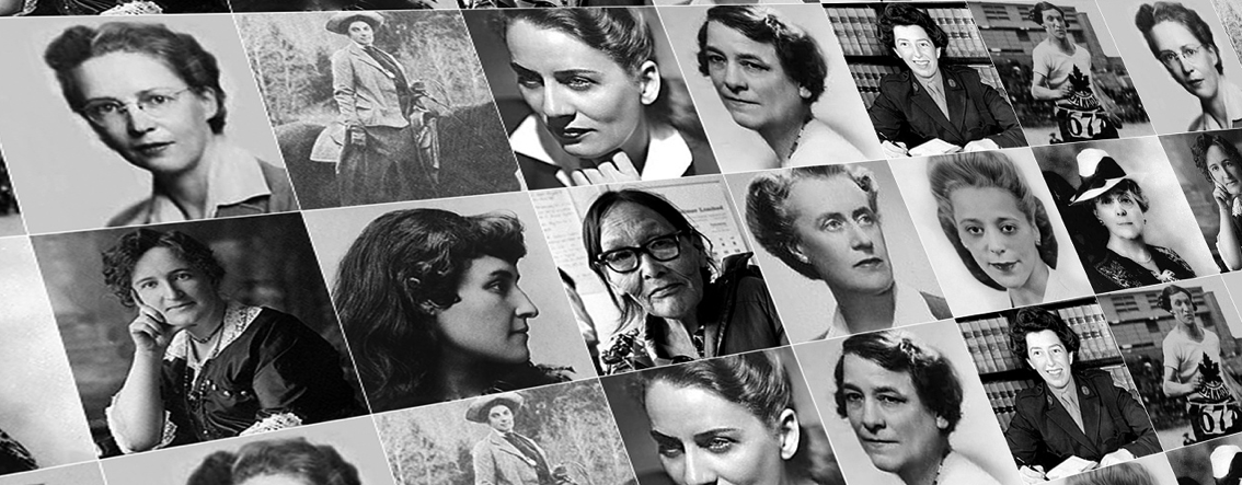 grid of images of iconic Canadian women