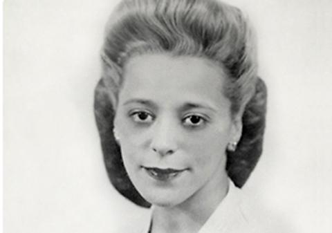 studio portrait of a woman