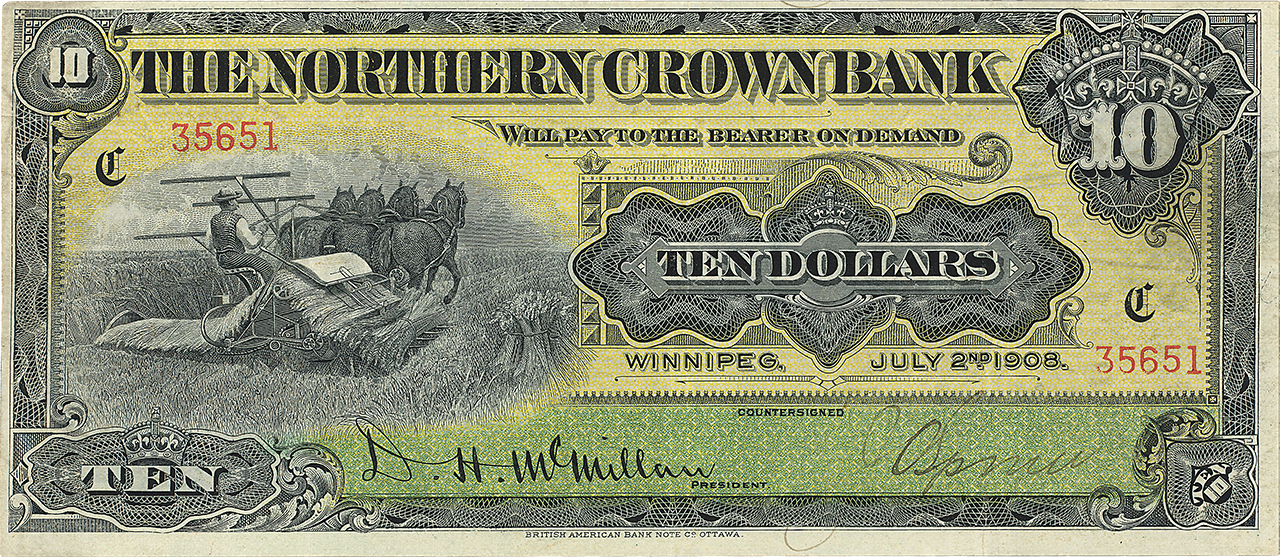 a ten dollar bank note