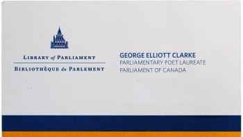 George Elliot Clarke's business card