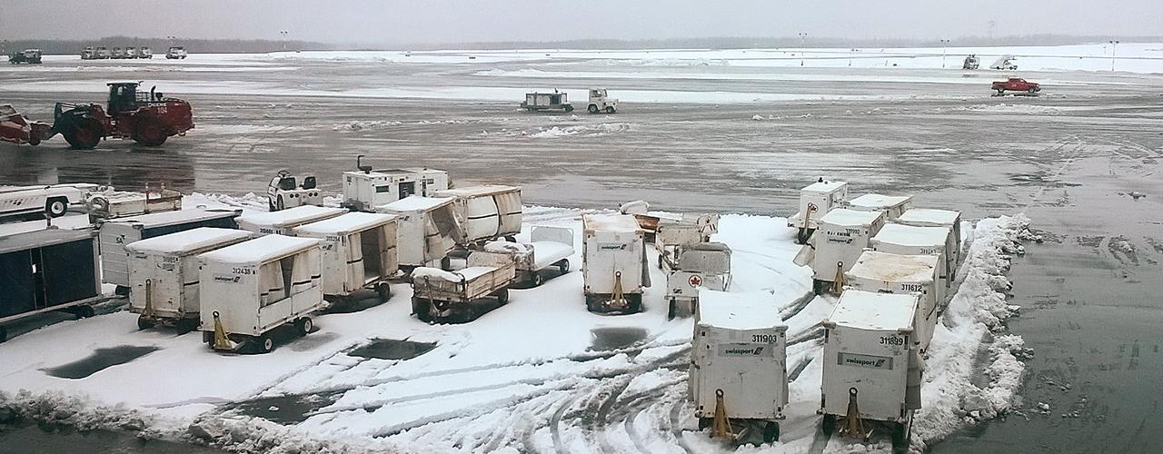 slush-covered runway