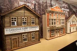 diorama of frontier buildings