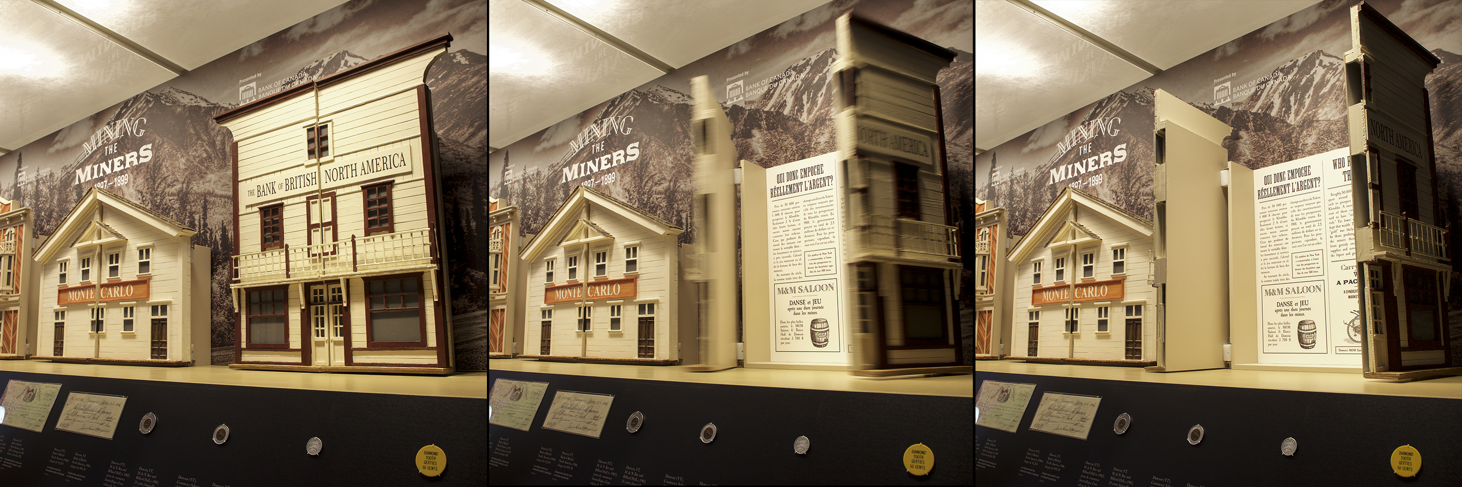 model building with front opening like doors