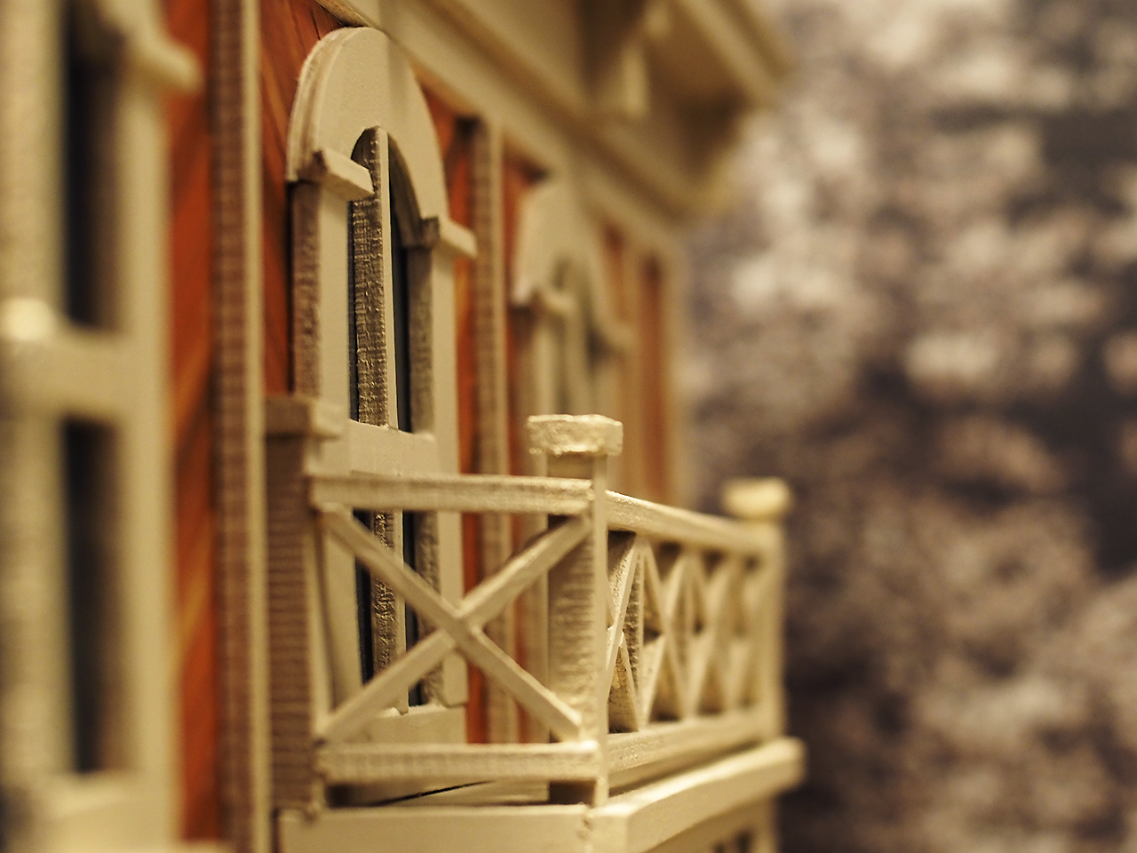 balcony on a model building