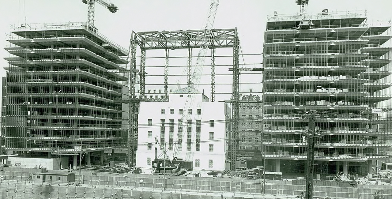 office tower under construction
