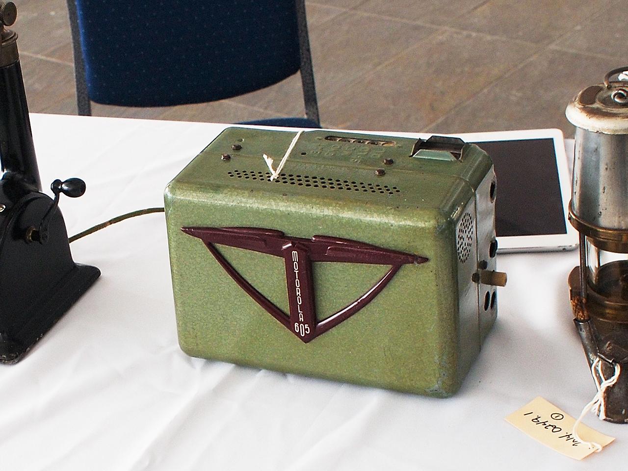 a green metal box