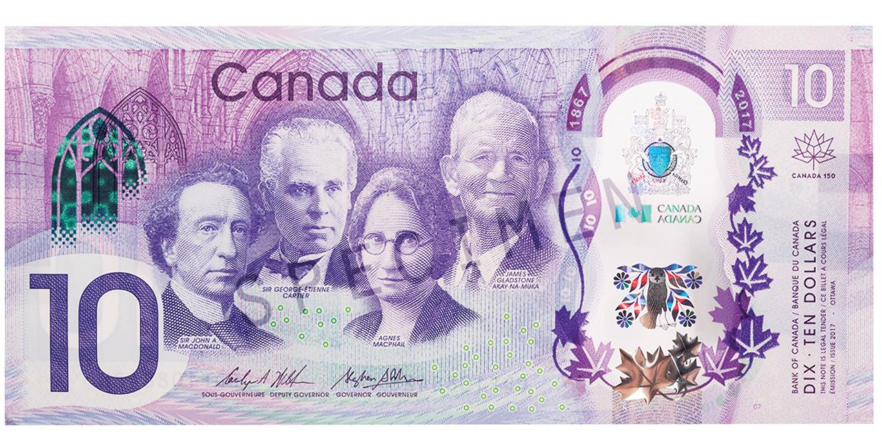 modern commemorative $10 bill
