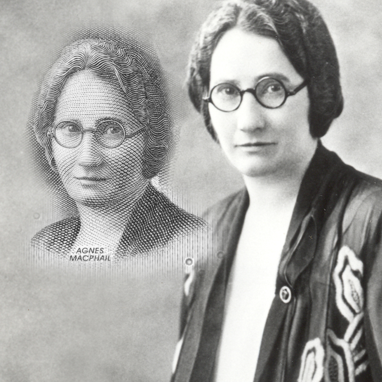historic photo of Agnes Macphail