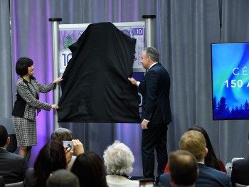Ms. Petitpas Taylor and Governor Poloz reveal note