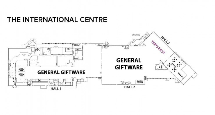 floor plan of the exhibit hall