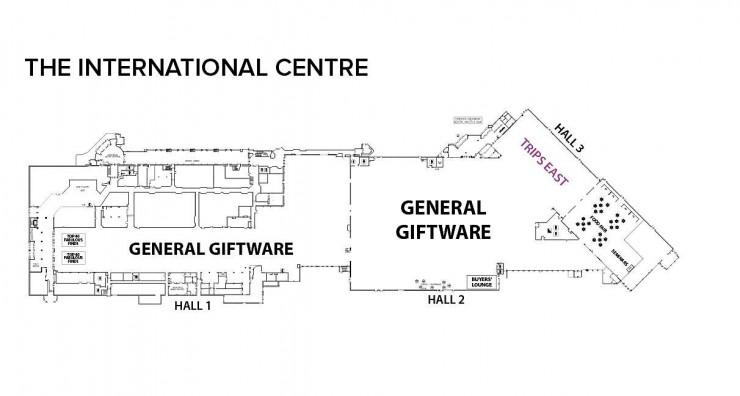 floor plan of the exhibit hall