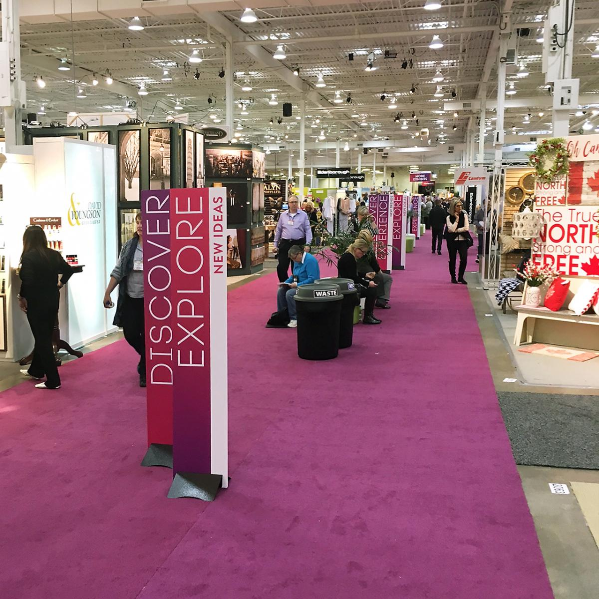 exhibit hall and booths