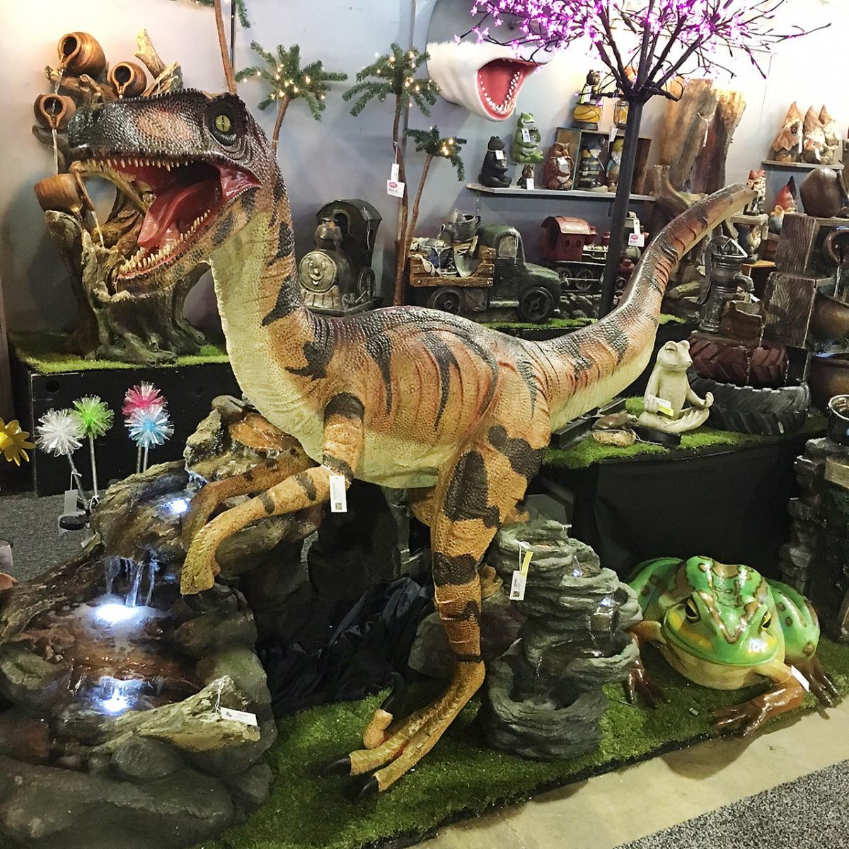plastic dinosaur and frog
