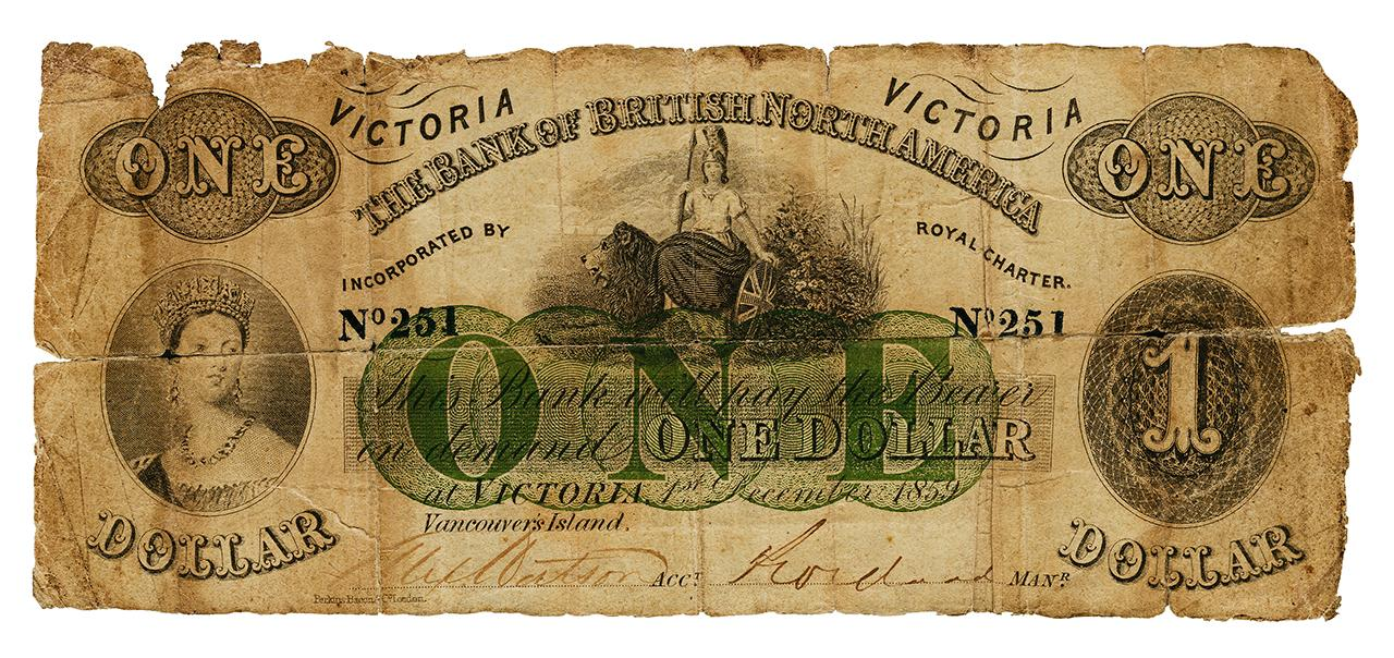 Bank of British North America $1 bill