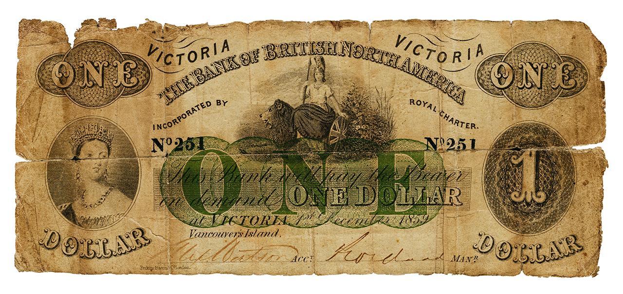Bank of British North America $1 bill
