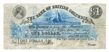 Bank of British Columbia $1 bill
