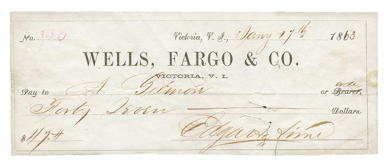 old cheque