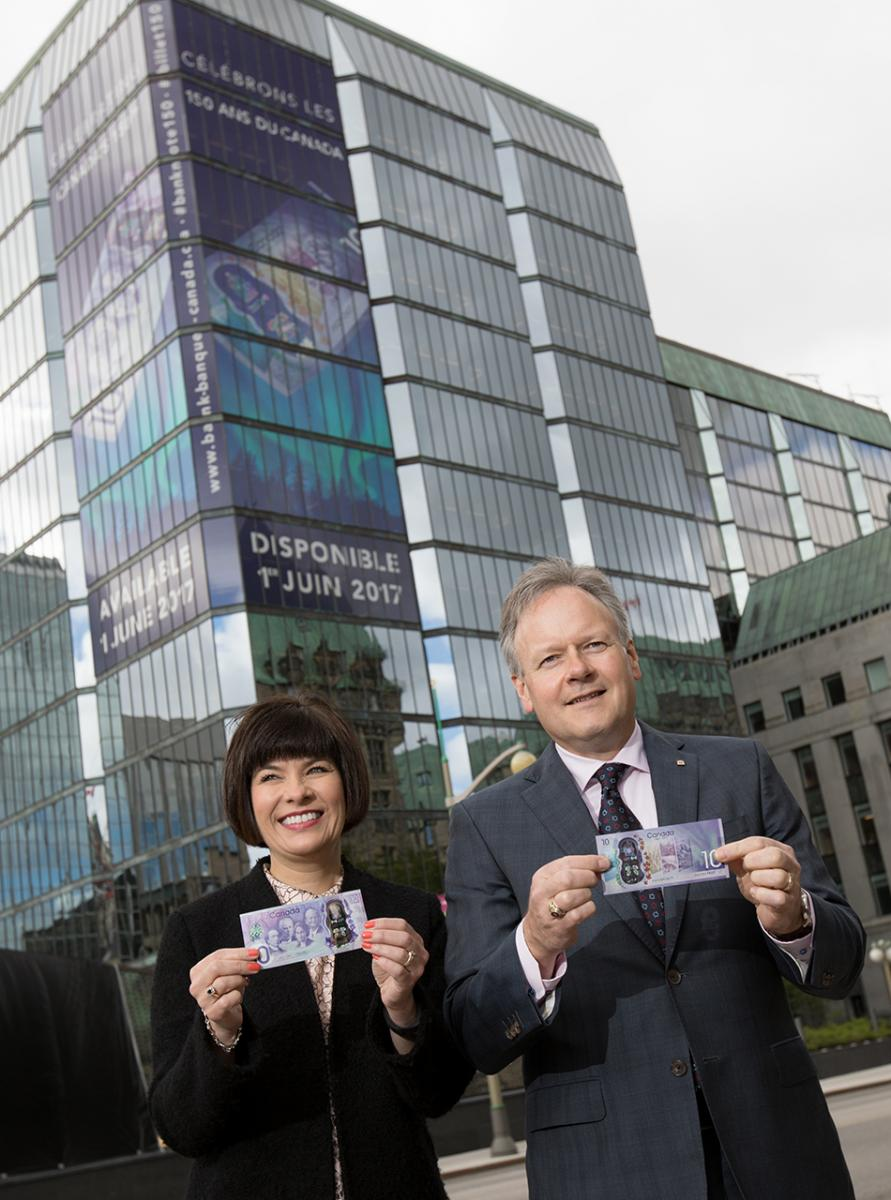 two people holding bank notes