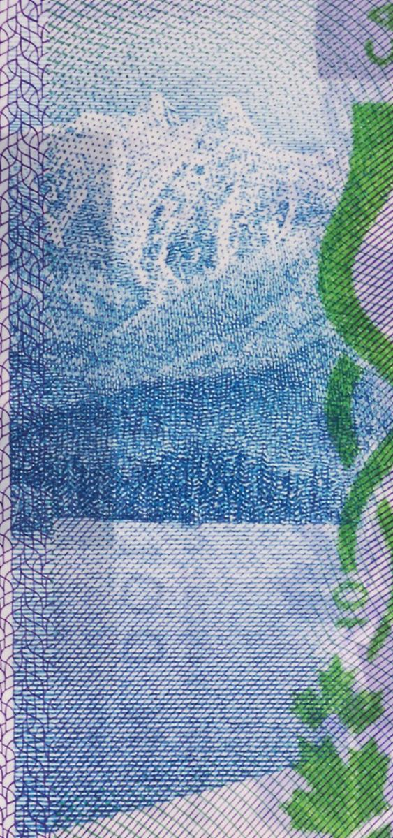 bank note image: mountains