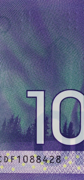 bank note image: northern lights