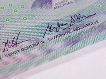 bank note image: jagged pattern