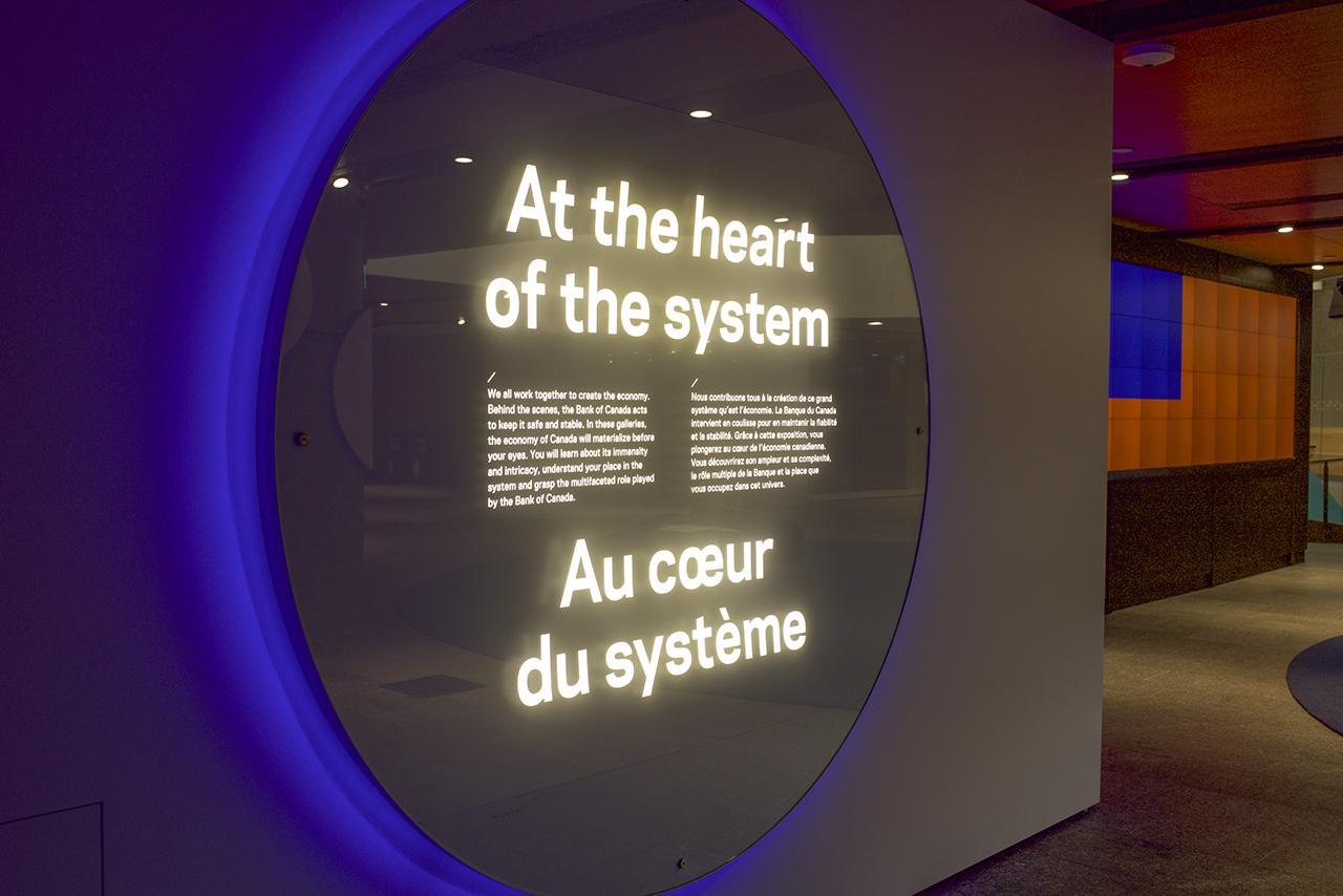 sign describing Bank's role