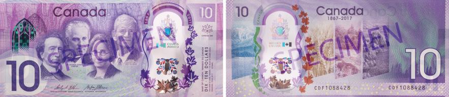 new $10 commemorative note