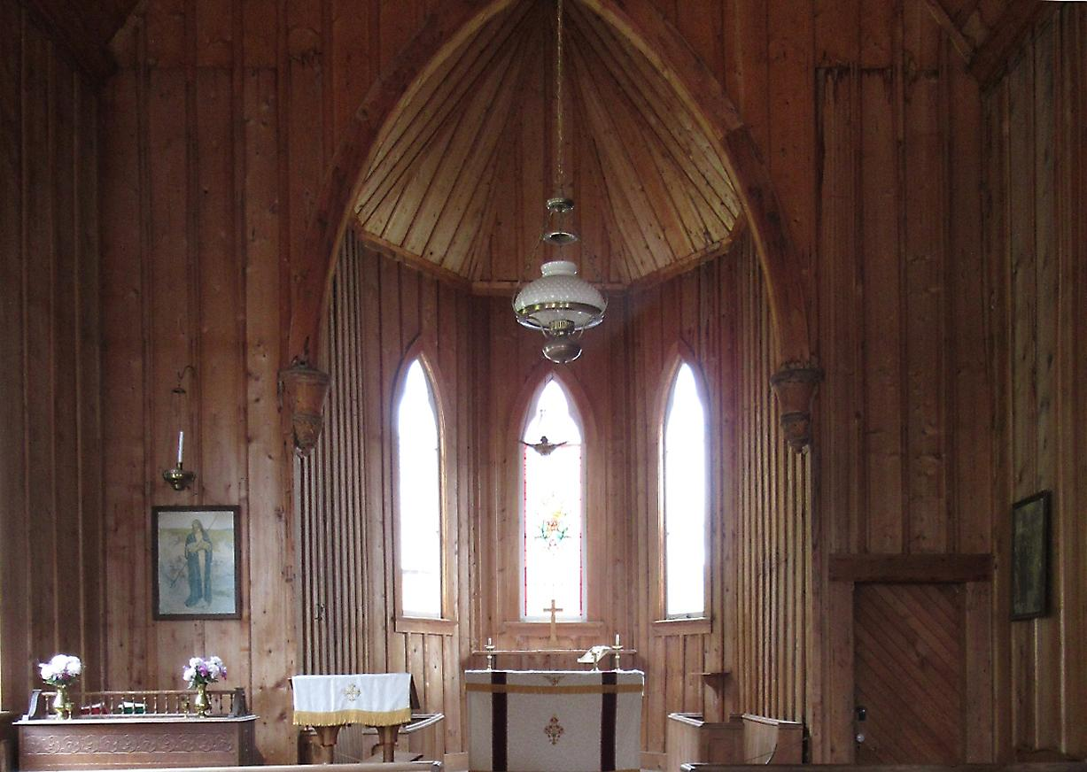 wooden church interior