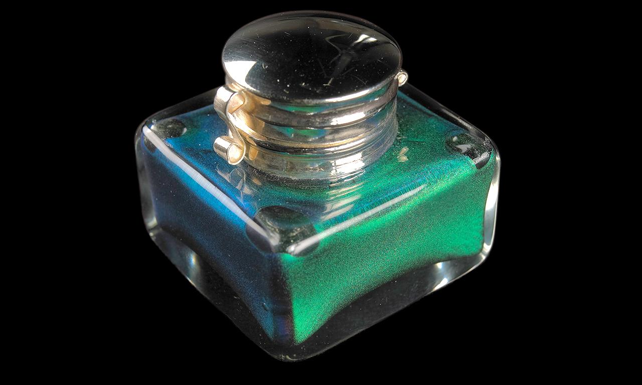 pot of specialized metallic ink