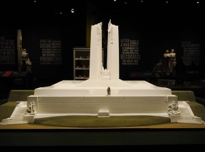 a model of the Vimy Ridge Memorial