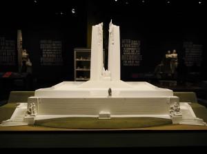 a model of the Vimy Ridge Memorial