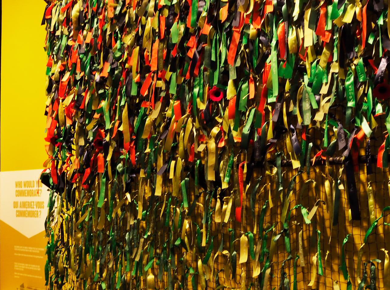 wall of ribbons