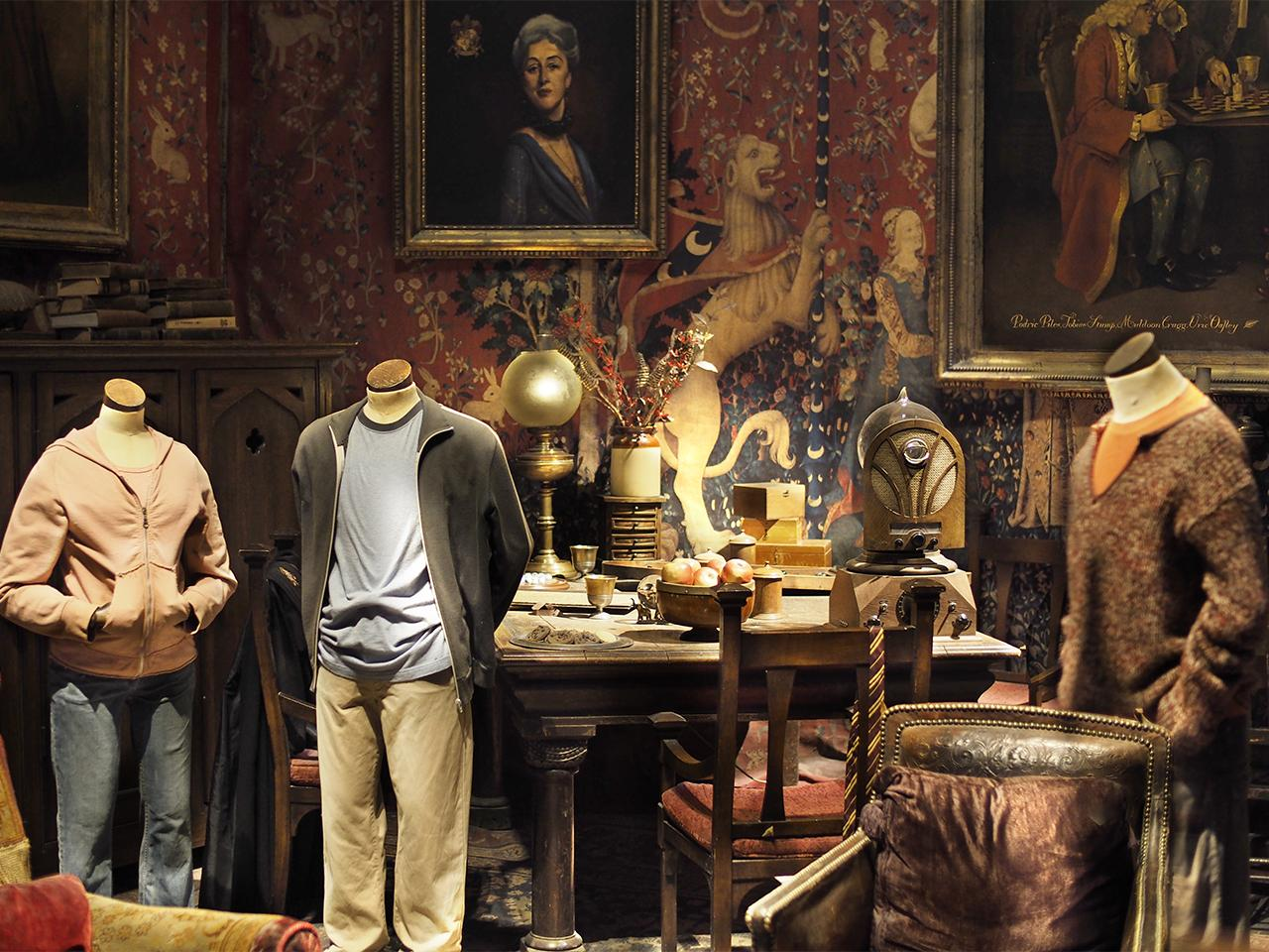 cluttered room of antiques