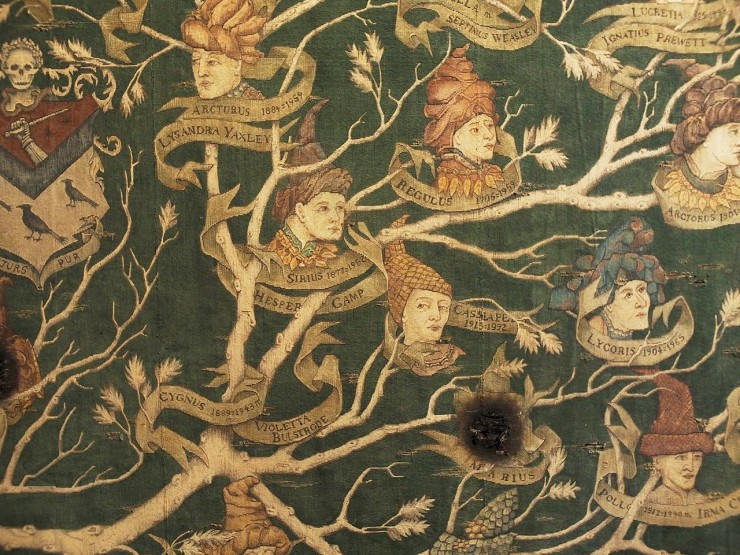 a tapestry of a family tree