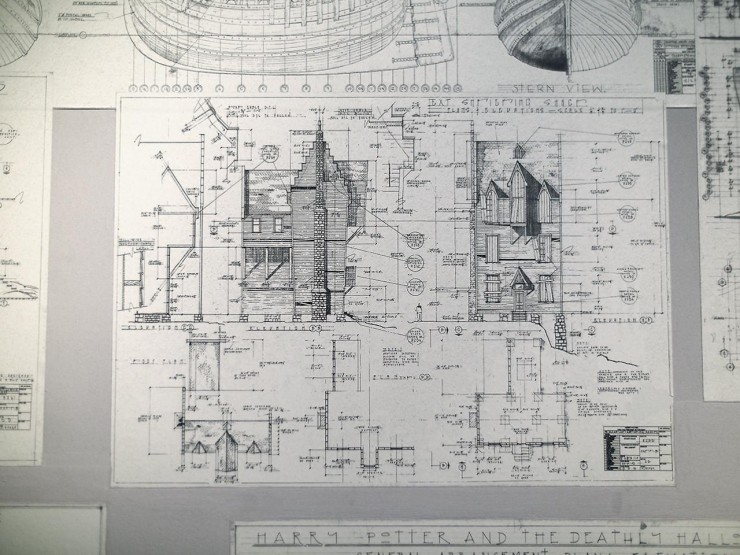 a set of architectural drawings