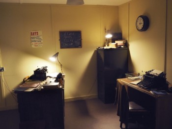 1940s office set in museum