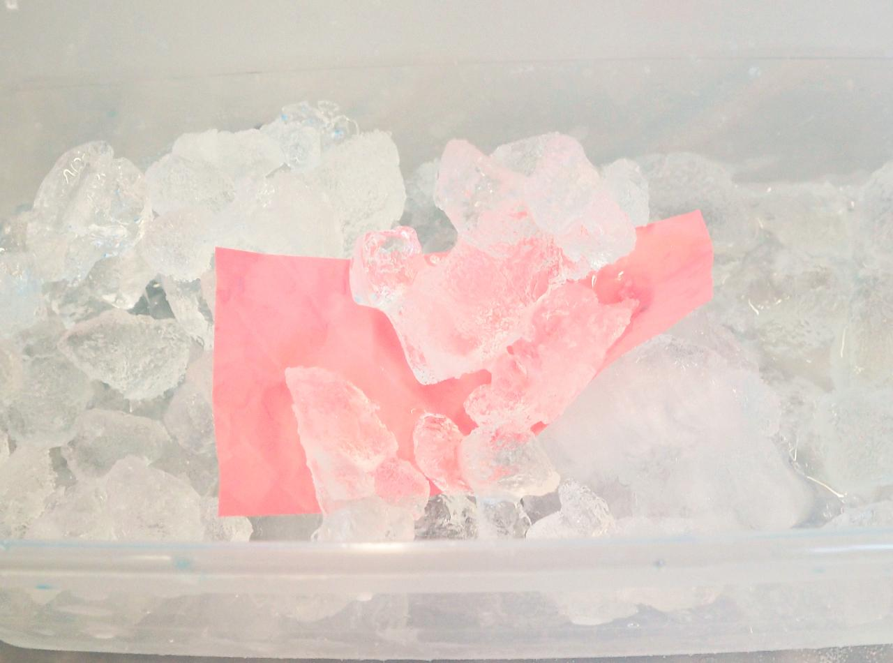 polymer material in ice