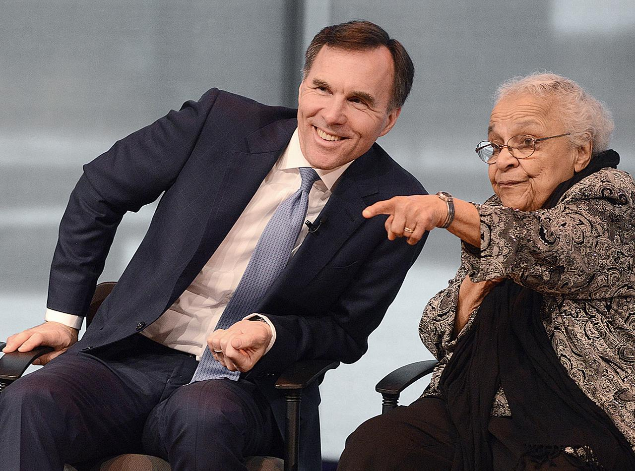 Bill Morneau and Wanda Robson