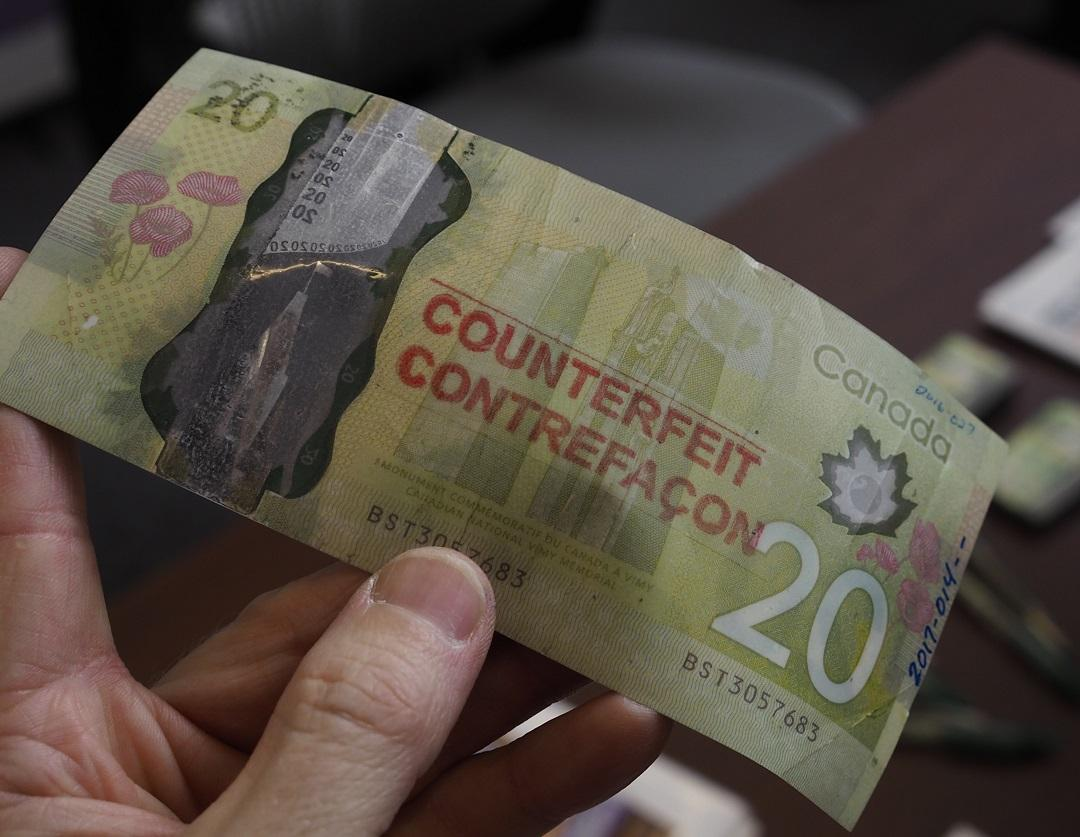 counterfeit $20 bill