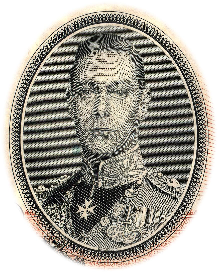 engraving of King George VI